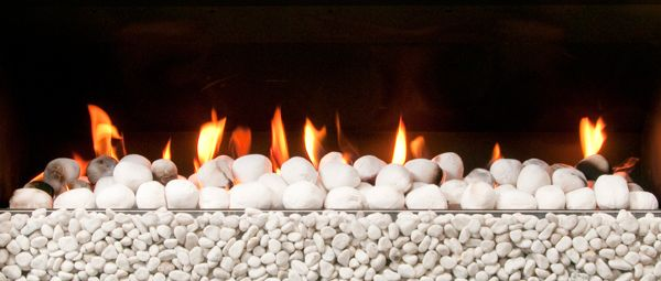 Rocks & Coals fuel bed option for Escea gas fireplaces