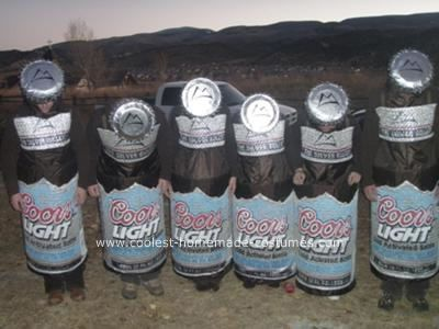 Homemade Beer Group Costume Idea: We are submitting our six-pack of Coors Light Costume for the coolest homemade costume contest because we believe it is the best costume we have seen on