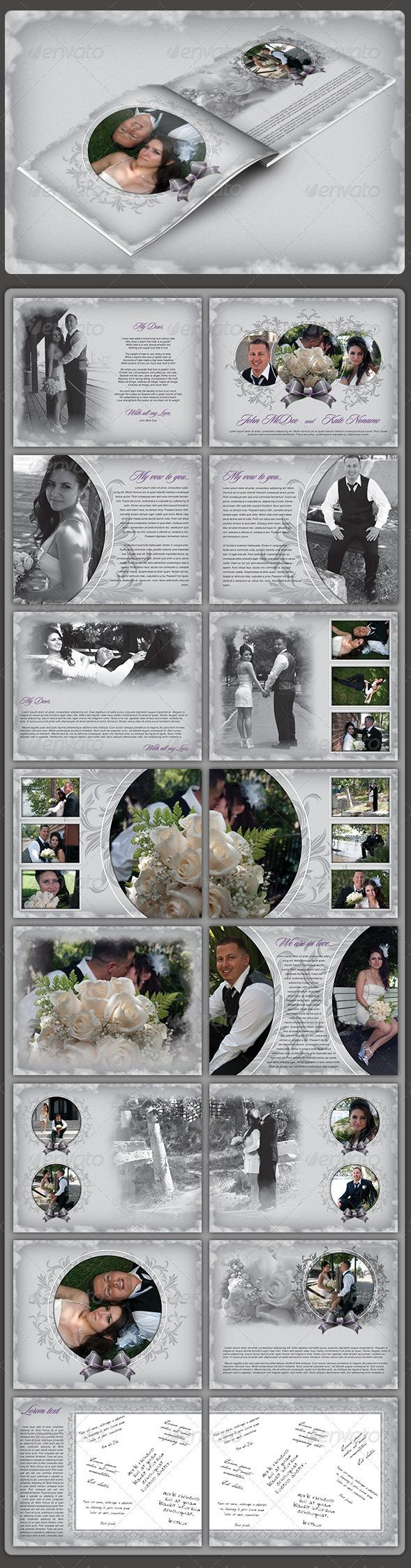 Buy Wedding Album By Atom Design On GraphicRiver Hello Glad To Present You This 16 Custom Pages Can Easely Modify As Much