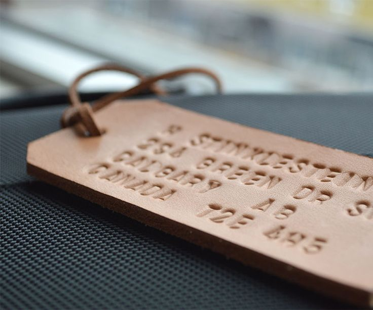 A leather luggage tag is for people who have their travel act together. It also looksway better than paper tags. Our kit has everything you need to make an embossed ...