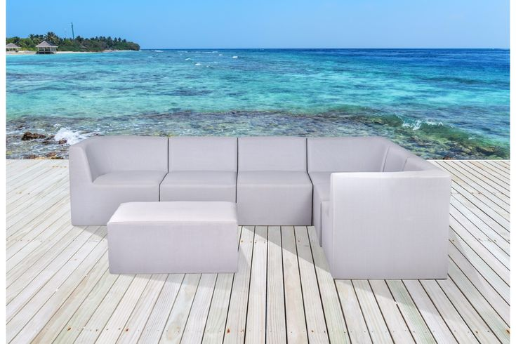Modular Outdoor Sectional Lounge In Sling Mesh Velago