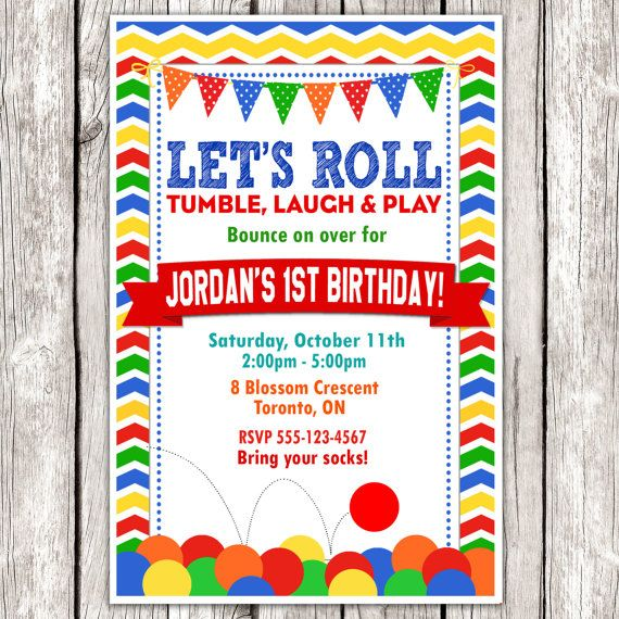 Bouncy Ball Invitation - Bouncy Ball Birthday Party - DIY Printable