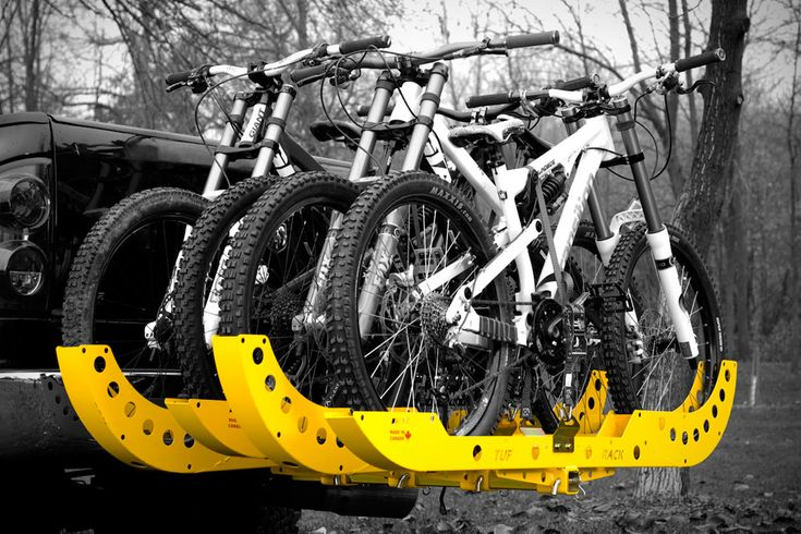 """When something claims that it's """"guaranteed indestructible"""", you tend to take notice. That's the case with the Tuf Rack ($170-$200). MIG welded using laser-cut 16-gauge steel, these bike racks - available in mountain bike and BMX styles - are tough..."""
