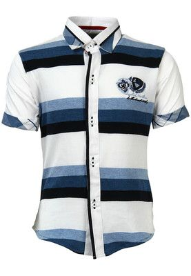 White coloured shirt for boys from Blazo. Made of cotton, it features regular fit and short sleeves.  This white coloured shirt for boys from Blazo is an ideal casual wear. Made of 100% cotton, this shirt has regular fit and short sleeves, which make it a must-buy. Team with denims and casual shoes.