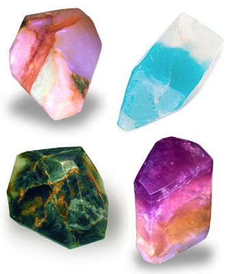 How to make soap gemstones
