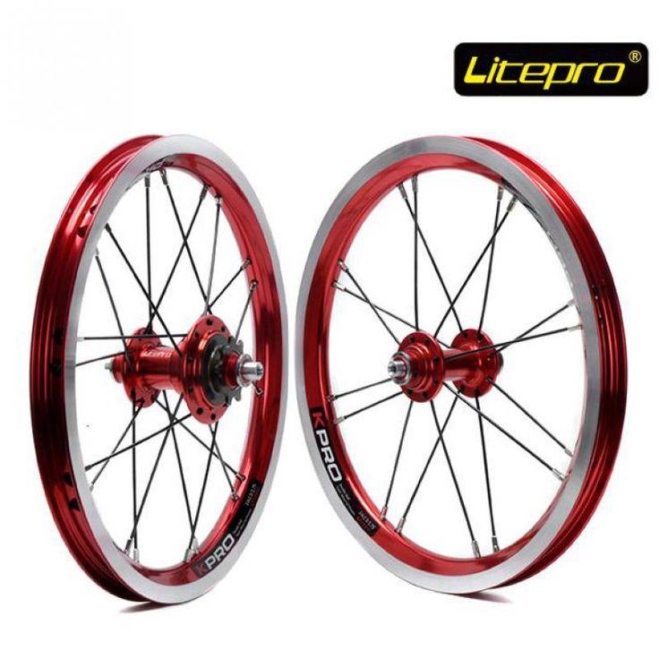189.88$  Watch here - http://alibbk.worldwells.pw/go.php?t=32620967326 - Litepro kpro 14 inch Folding Bike Wheels 412 BMX wheel set 16 20 Holes Single Speed Bicycle Wheelset 189.88$