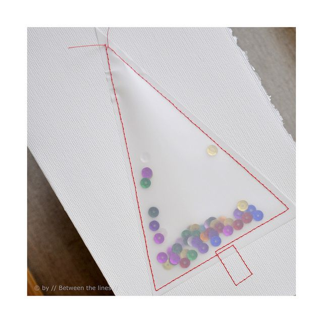 Easy Christmas card---use clear contact paper?? Could make a snow globe as well
