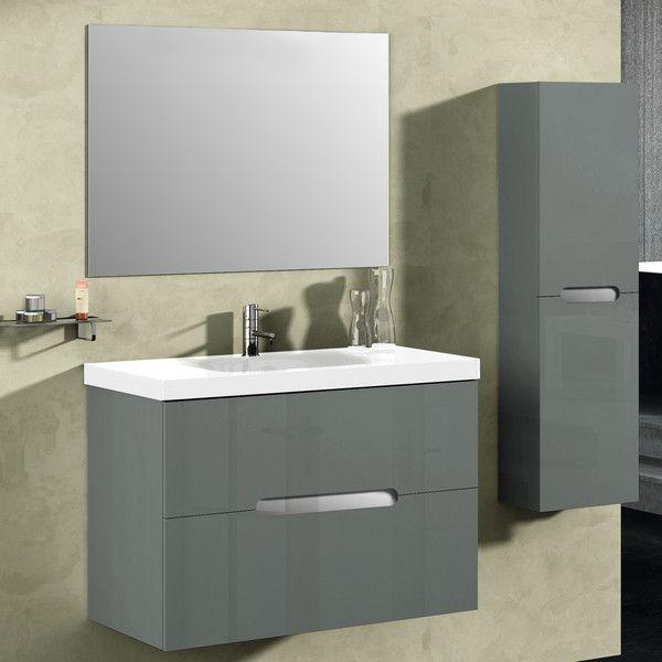 Abella 32 Inch Modern Grey Finish Bathroom Vanity Set Vanity Set
