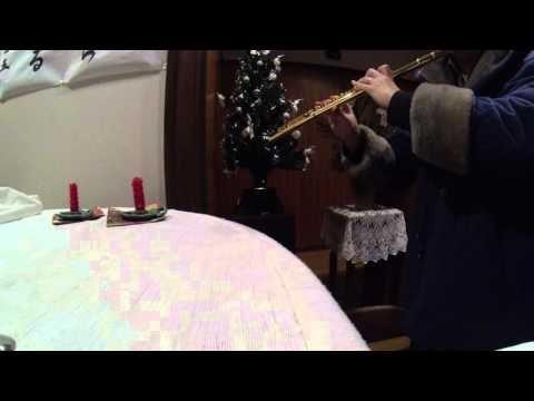 「主はその群れを」by 福楽金メッキフルートH管 with 光ファイバーのクリスマスツリー