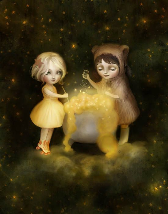 Brewing Stars with Little Bear by Lisa Falzon