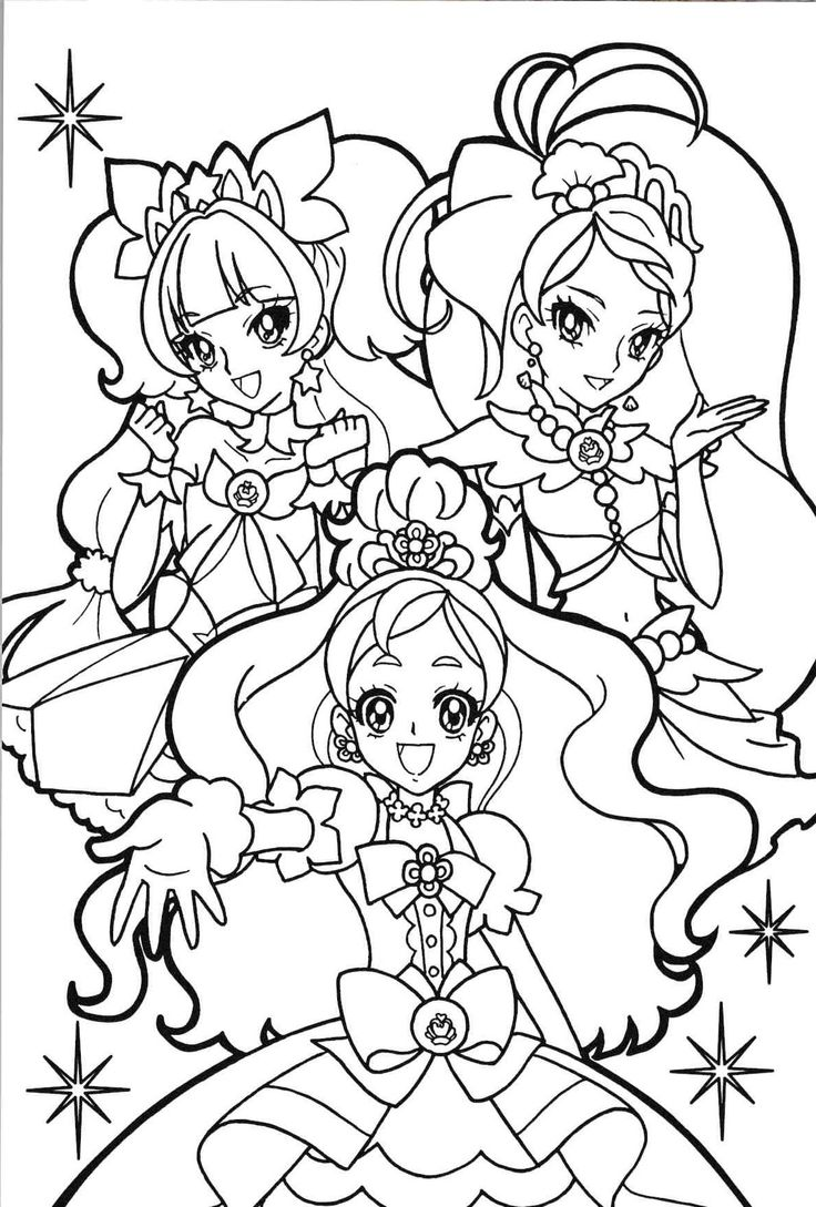 princess precure Anime coloring pages Pinterest