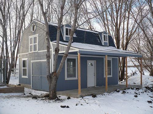 Storage shed made house Small home plans Pinterest