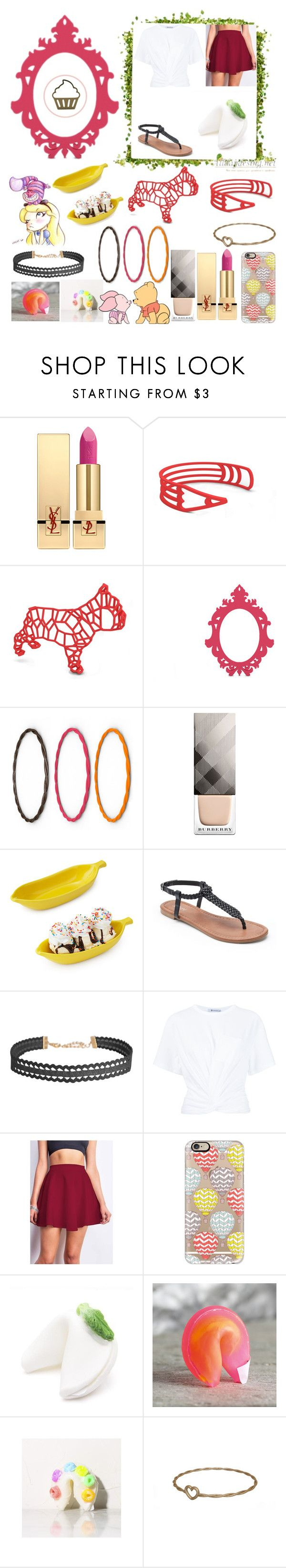 """""""Winnie the Poo in a Hot Air Balloon!"""" by katykitty5397 on Polyvore featuring Yves Saint Laurent, Burberry, BIA Cordon Bleu, Apt. 9, Humble Chic, T By Alexander Wang and Casetify"""