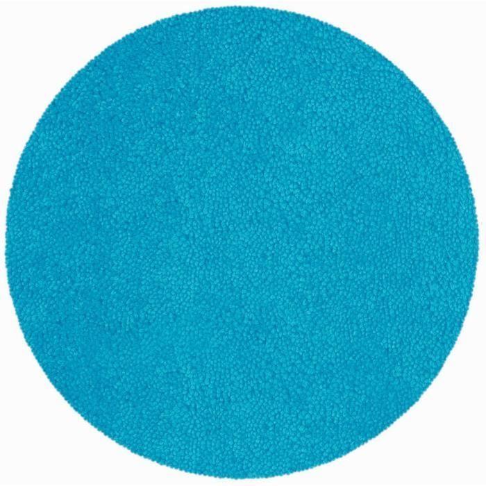 Spirella Tapis De Bain Highland Rond 60 Cm Bleu Cyan Tapis De Bain Tapis De Bain Rond Bleu Cyan