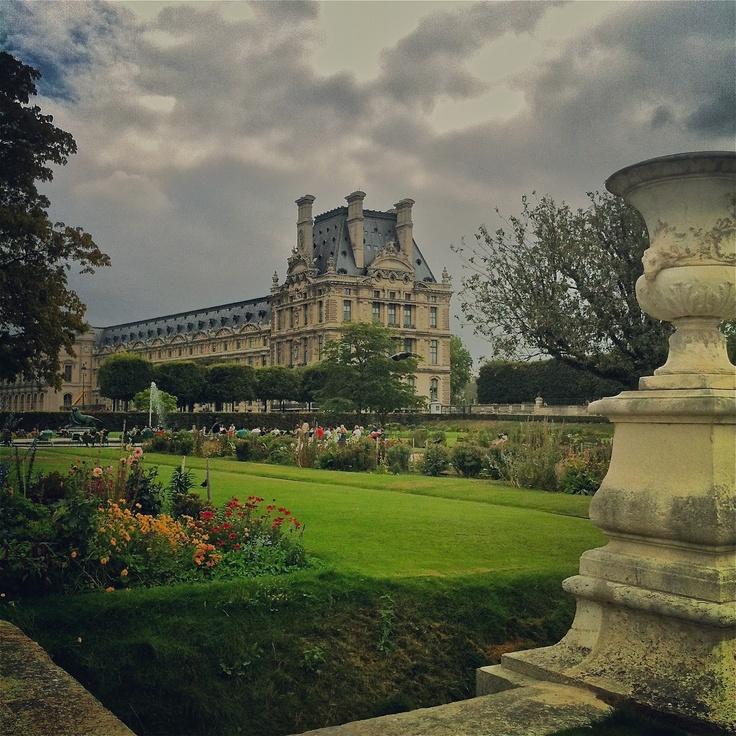 The gorgeous gardens in Paris
