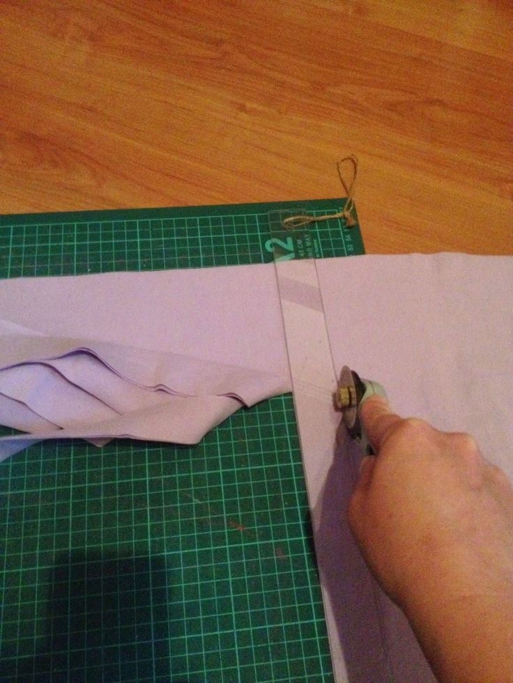 Prematurbarn i Gävle: Tutorial: att skära långa kantband.