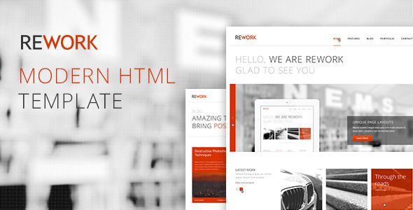 REWORK - Responsive HTML5/CSS3 Template - ThemeForest Item for Sale
