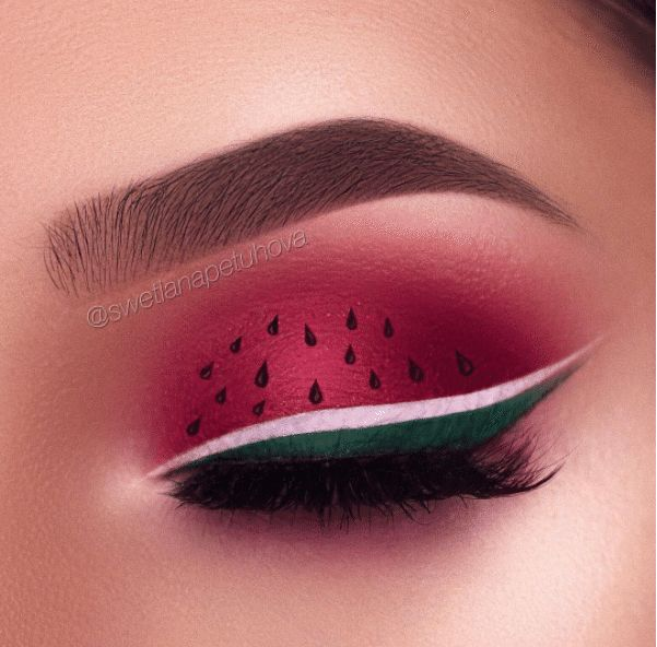 One of the latest most unexpected and fun beauty trends — watermelon makeup! An…