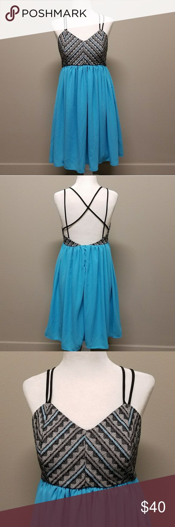 Altar'd State Strappy back tribal top Dress Very cute! Has a scrappy back and flowy bottom. Altar'd State Dresses