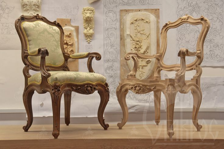 Стул из массива дерева с великолепной резьбой. Оригинальный, качественный предмет мебели, который создан с душой. Настоящие ценители правильной мебели несомненно поймут о чем речь.
