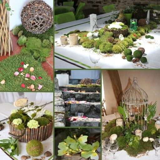 Inspirations d co des tables diy mariage nature for Deco de table champetre