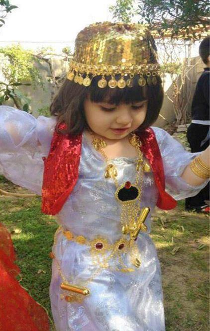 Cute Kurdish Girl in traditional Costume.