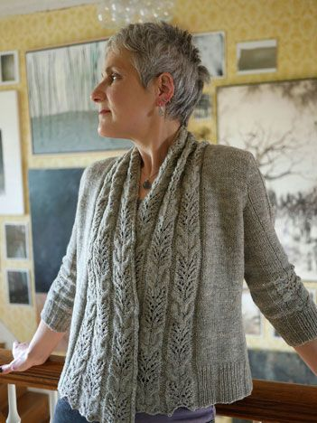 Triticum by Anne Hanson cardigan knitting pattern. There are some knitting patterns I pin because I think they're interesting and then some that just make my fingers itch to start knitting. This is one of those I'm dying to knit.