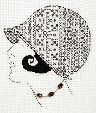 Montana Blackwork Kit by Classic Embroidery