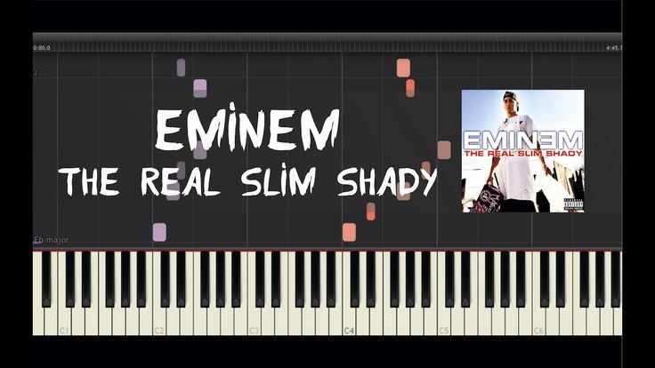 Eminem - The Real Slim Shady - Piano Tutorial by Amadeus (Synthesia)