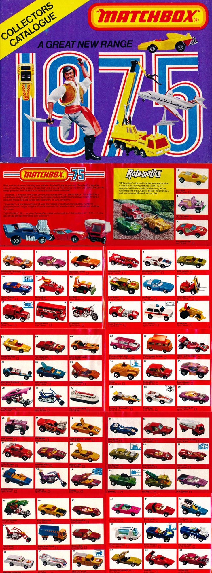 Matchbox catalogue 1975