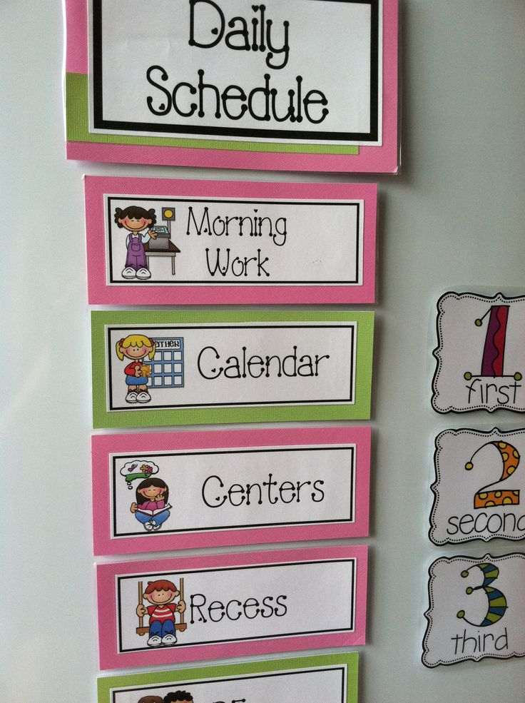 Kindergarten Calendar Time Routine : How to organize for the first day of kindergarten a guide