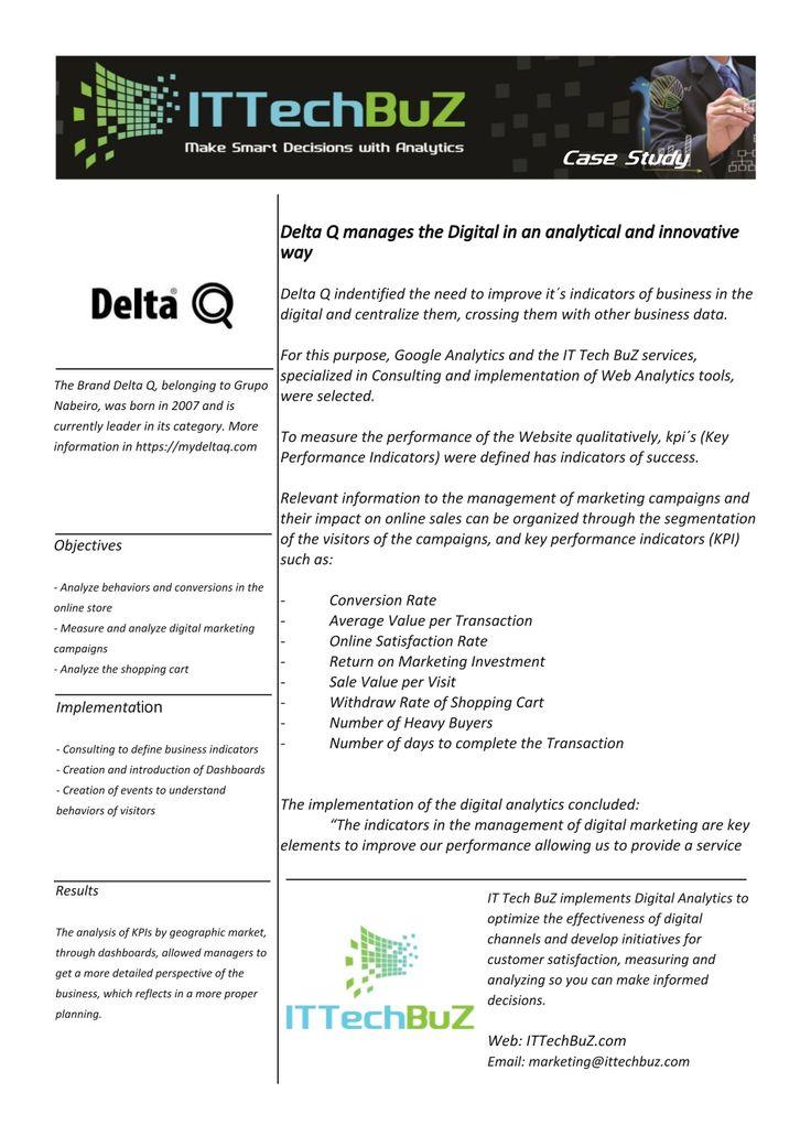 Case Study - Digital Analytics - Delta Q 2014 by IT Tech BuZ via - define business investment