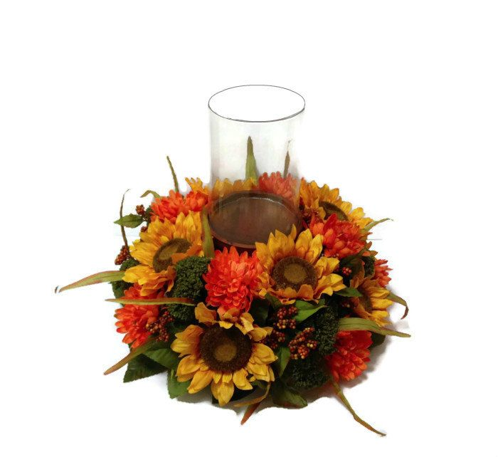 Thanksgiving Sunflower Fall Table Centerpiece by perpetualposy