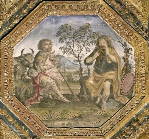 bernardino pinturicchio mercury argus and io 1492 95 fresco sala dei santi appartamento. Black Bedroom Furniture Sets. Home Design Ideas