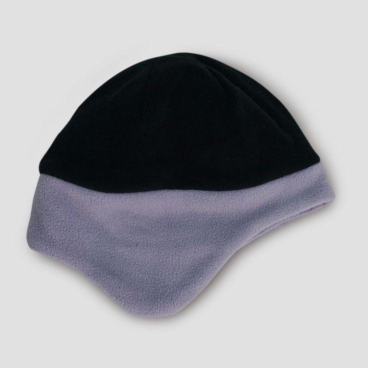 Boys' Colorblock Fleece Earflap Hat - Cat & Jack Black/Gray 8-16