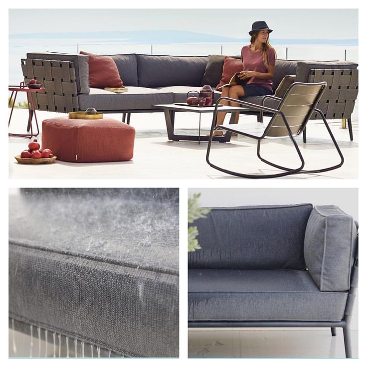 Conic lounge with SoftTouch textile and a core of intelligent QuickDry foam - the cushions dry up fast after a shower of rain ... ☔️☀️ #caneline #outdoorfurniture #outdoorliving #rain #weatherresistant #quickdry #furniture #design #lounge #terrace #patio #garden