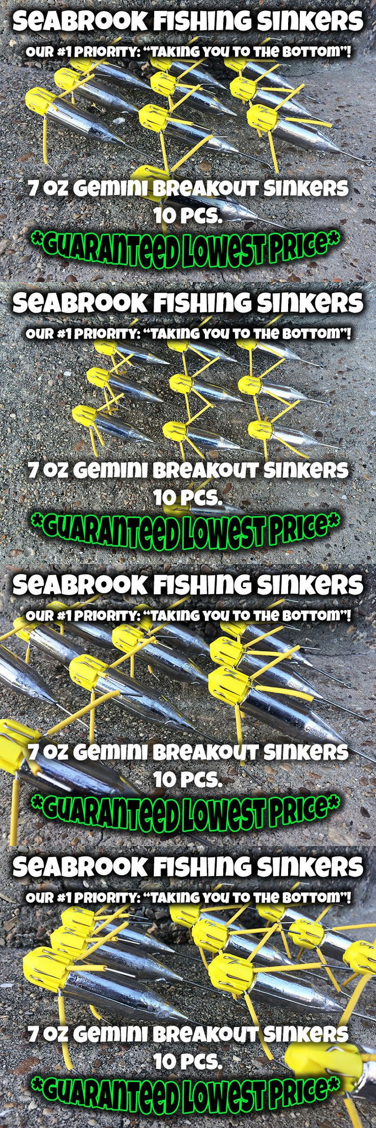 Sinkers and Weights 161826: 7 Oz - 10 Pcs   Gemini Breakout Sinkers   Surf Sputnik Sinker Spider Weights BUY IT NOW ONLY: $33.99