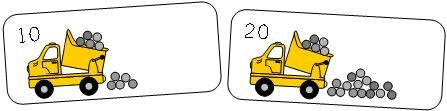 Dump Truck Theme Skip Count by Ten Cards
