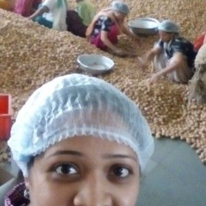 toddler visits walnut factory   A woman says