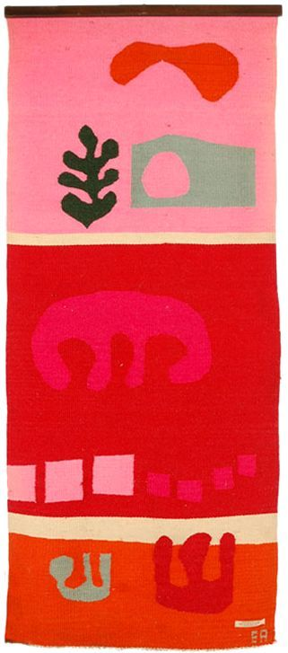 "evelyn ackerman tapestry. ""hot summer landscape"" (1958)."
