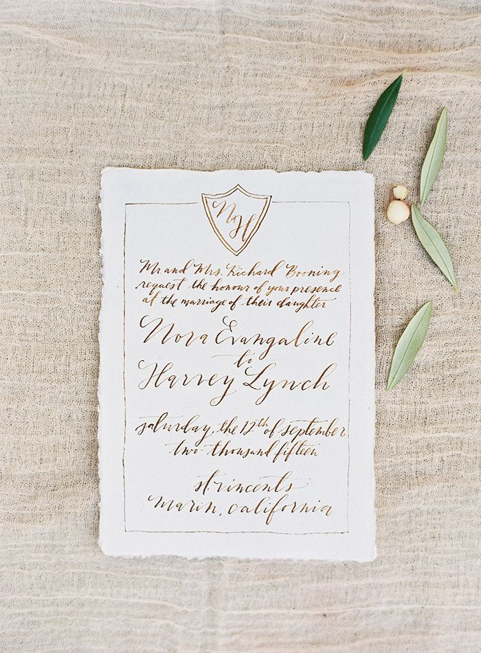 invitation letter for judging an event%0A A hand calligraphied invitation with sweet crest monogram