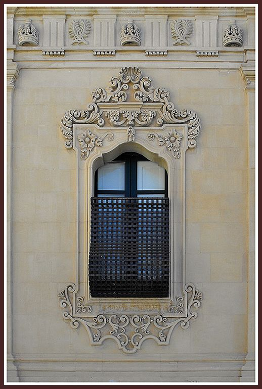 baroque window - noto, Syracuse
