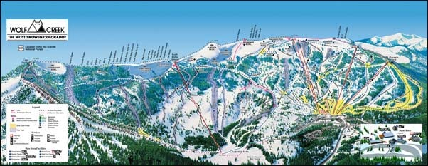 Wolf Creek Ski Area Trail Map, 2 More Weeks!