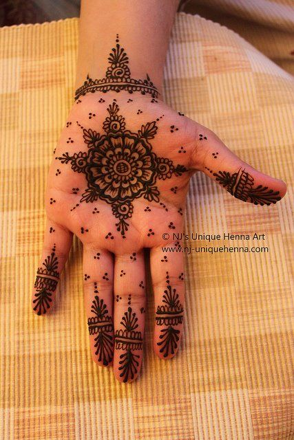Henna or Mehndi for Pakistani or Indian weddings to adorn the brides hands & feet with beautiful symbolic designs. Bridal henna designs #mandala #simple #Gujarati