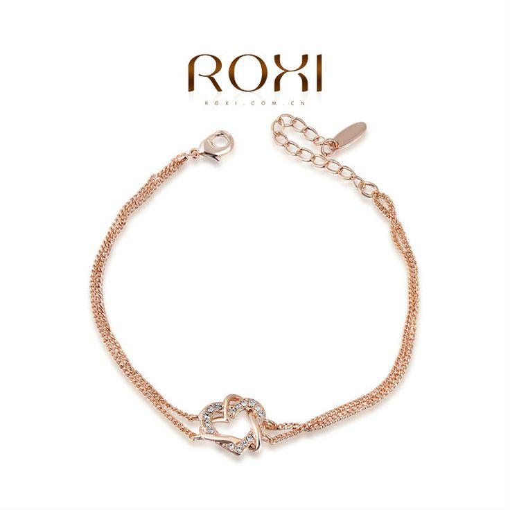 Roxi Trendy Rose Vergulde Armband met Hartje