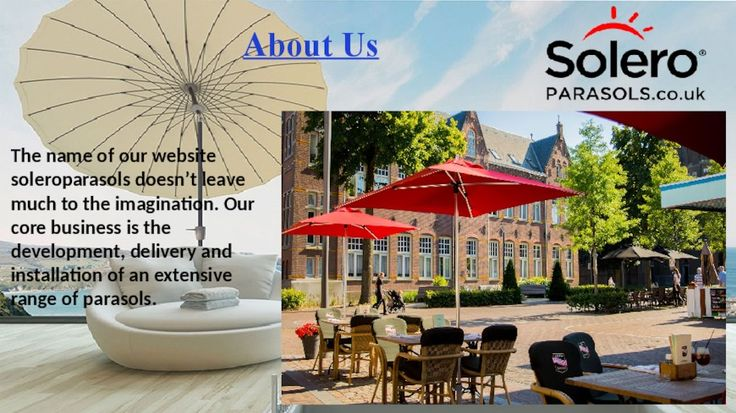 Cantilever parasols are parasols which have a mast on the side of the parasol. In most cases, this is the flat side. Visit Us:- http://soleroparasols.co.uk/