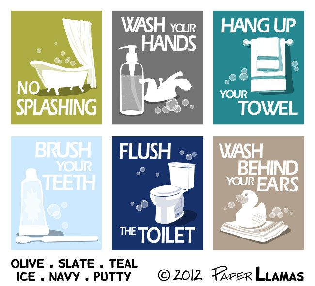 Bathroom Art Prints Wash Your Hands Brush Your Teeth Children S Bath Room Wall Art Pick 3 Bathroom Rules Art For The Bathroom