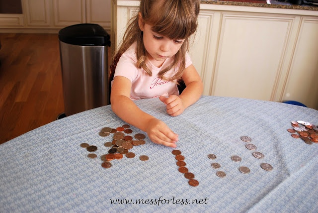 Preschool Math - Counting Coins and sorting