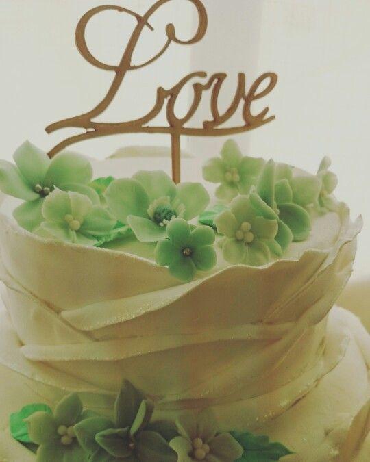 ケーキも花もクレイアート ケーキトッパーはオリジナルです