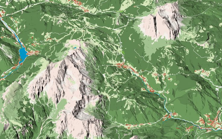 First tests for a new project: the panoramic map of #Dolomites. Alleghe - Civetta - Moiazza - Pelmo
